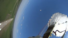 First parachute jump stock footage