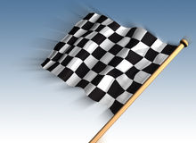First past the post. Illustration of a checkered flag for the winner Stock Photography