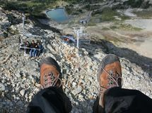 First Perspective View From Chairlift Stock Photography