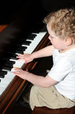 First piano lesson Royalty Free Stock Images