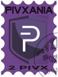 First PIVX postal stamp stock photos