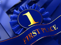 First place award background. Abstract 3d illustration of first place award background Royalty Free Stock Images