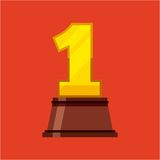 First place award isolated icon. Vector illustration design Royalty Free Stock Photography