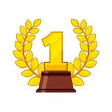 First place award isolated icon. Vector illustration design Stock Photo
