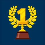 First place award isolated icon. Vector illustration design Stock Photos