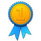 First place award ribbon (Hi-Res) Royalty Free Stock Photo