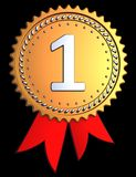 First place award ribbon (Hi-Res) Stock Photography