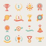 First Place Badges And Winner Ribbons Vector Royalty Free Stock Photo