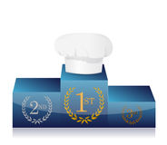 First place on cooking contest. Illustration design Royalty Free Stock Photo