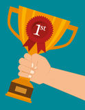 First place cup. Graphic design, vector illustration eps10 Stock Photography