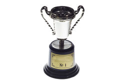 First place cup,isolated Stock Images