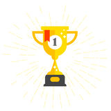 First place cup - winner award, prize bowl. First place cup - winner award, gold prize bowl Royalty Free Stock Image