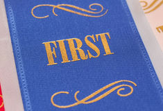First place finish Stock Photography