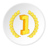 First place icon, cartoon style Royalty Free Stock Photography