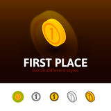 First place icon in different style Royalty Free Stock Images
