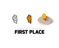 First place icon in different style Royalty Free Stock Image