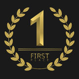 First place icon Stock Image