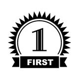 First place icon, simple style. First place icon in simple style on a white  background Stock Image