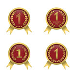 First place icons Stock Photos