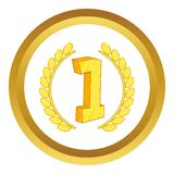 First place laurel label vector icon Stock Photos