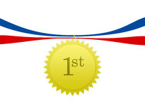 First Place Medal. A first place medal or badge Royalty Free Stock Photos