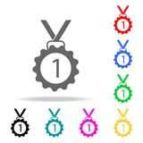 First place medal icon. Elements of School and study multi colored icons. Premium quality graphic design icon. Simple icon for web. Sites, web design, mobile app Royalty Free Stock Photos