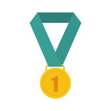 First place medal. Icon  illustration graphic design Royalty Free Stock Photos