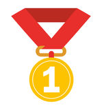 First place medal isolated icon design. Illustration  graphic Royalty Free Stock Images