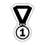First place medal isolated icon. Vector illustration design Royalty Free Stock Images