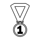 First place medal isolated icon. Vector illustration design Royalty Free Stock Photo
