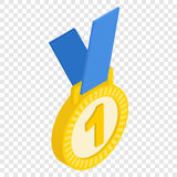 First place medal isometric icon. First place medal isometric 3d icon on transparent background Royalty Free Stock Images