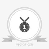 First place. medal vector icon. On grey background Royalty Free Stock Photo
