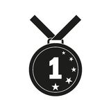 First place. medal vector icon. On white background Stock Photo