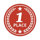 First place medal on white background. Vector illustration Stock Photo