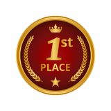 First place medal on white background. Vector illustration Royalty Free Stock Image