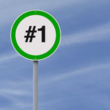 First Place. A modified speed limit sign implying first place Royalty Free Stock Image