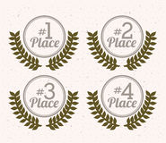 First place. Over white background vector illustration Royalty Free Stock Image