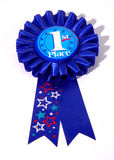 First Place Ribbon. Photo of a 1st Place Ribbon Royalty Free Stock Image