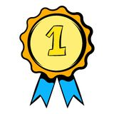 First place rosette icon, icon cartoon Royalty Free Stock Photography