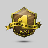 First Place Shield Royalty Free Stock Photography