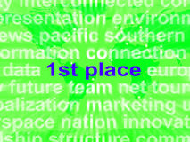 First Place Shows 1st Winner Reward And Success Royalty Free Stock Photography