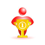 First place. Social people icon. Vector illustration Stock Photography