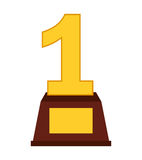First place trophy isolated icon design. Illustration  graphic Royalty Free Stock Images
