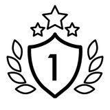 First place winner award line icon. vector illustration isolated on white. outline style design, designed for web and. Winner award line icon. vector royalty free illustration