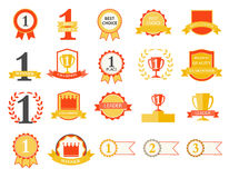 First Place Winner, Best Choice ribbons and badges. First Place Winner and Best Choice ribbons and badges, vector Royalty Free Stock Images