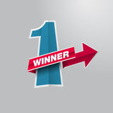 First place winner. Vector design Royalty Free Stock Photo