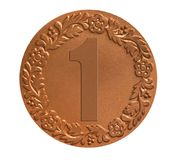 Medal for awarding. The first place winners medal as success achievement concept Royalty Free Stock Photos