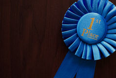 First place winners rosette Royalty Free Stock Images