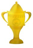First placetrophy. Illustration Stock Photo
