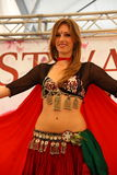 First plane of the belly dancer Royalty Free Stock Photo